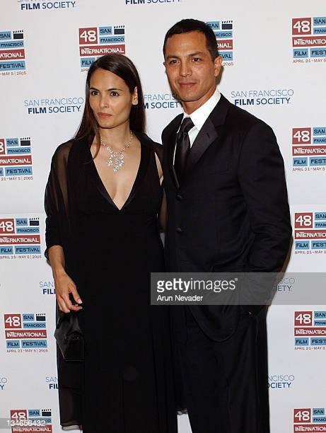Talisa Soto and Benjamin Bratt during 48th San Francisco International Film Festival Film Society Awards Night Honors Joan Allen Taylor Hackford and...