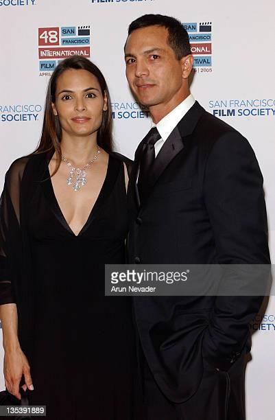 Talisa Soto and Benjamin Bratt during 48th San Francisco International Film Festival Film Society Awards Night Honors Joan Allen Taylor Hackford and...