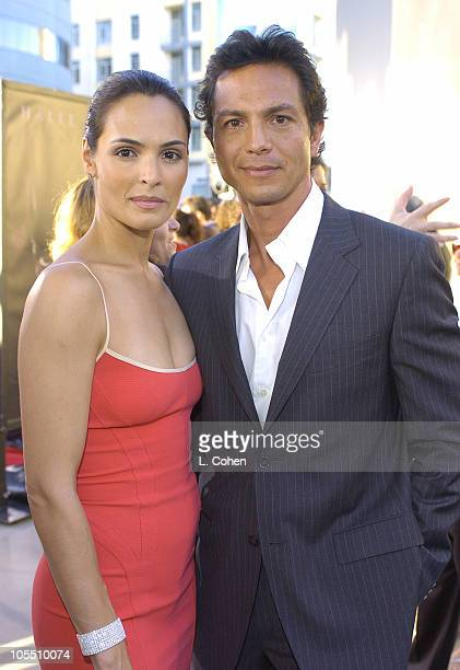 Talisa Soto and Benjamin Bratt during Catwoman World Premiere Red Carpet at Cinerama Dome in Hollywood California United States