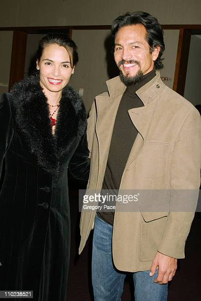 """Talisa Soto and Benjamin Bratt during """"The Woodsman"""" New York Cit y Premiere - Inside Arrivals at The Skirball Center in New York City, New York,..."""