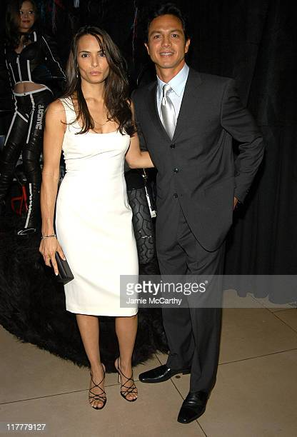 Talisa Soto and Benjamin Bratt during Warner Bros Consumer Products and Henri Bendel Host Purrfect Catwoman After Party at Henri Bendel in New York...