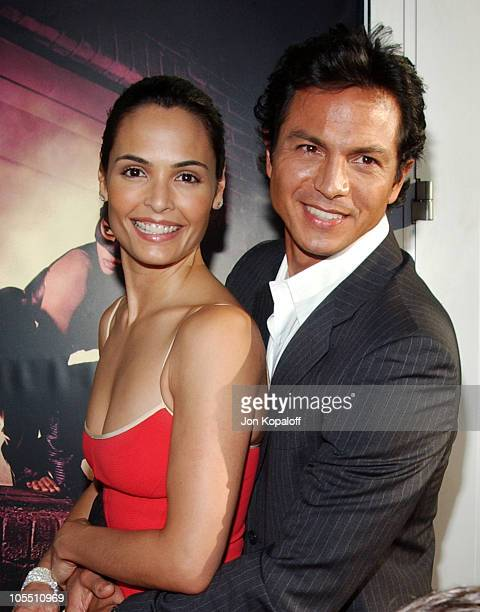 Talisa Soto and husband Benjamin Bratt during Catwoman Los Angeles Premiere Arrivals at ArcLight Cinerama Dome in Hollywood California United States