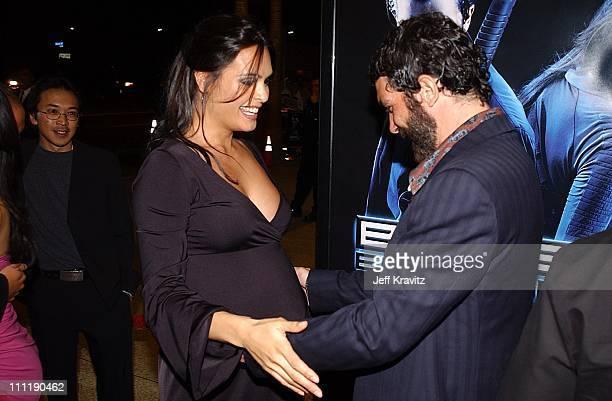 Talisa Soto Antonio Banderas during Ballistic Ecks vs Sever Premiere at Cinerama Dome in Hollywood California United States