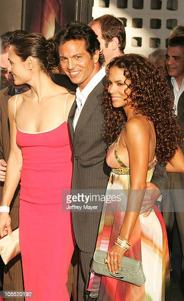 """Talisa Soto, Bejamin Bratt and Halle Berry during """"Catwoman"""" World Premiere - Arrivals at Cinerama Dome in Hollywood, California, United States."""