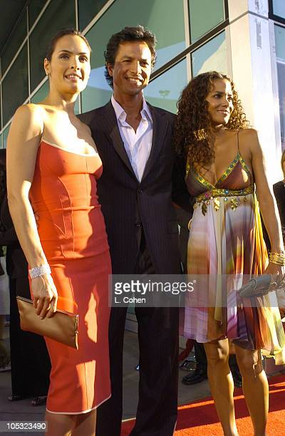 Talisa Soto Benjamin Bratt and Halle Berry during Catwoman World Premiere Red Carpet at Cinerama Dome in Hollywood California United States