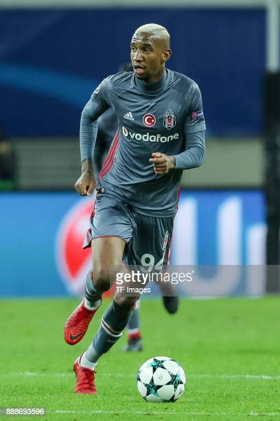 Talisca of Besiktas controls the ball during the UEFA Champions League group G soccer match between RB Leipzig and Besiktas at the Leipzig Arena in...