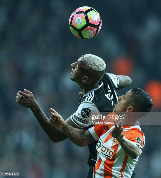 Talisca of Besiktas in action during the Turkish Spor Toto Super Lig football match between Besiktas and Adanaspor at Vodafone Arena in Istanbul...