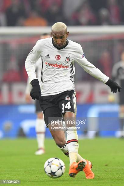 Talisca of Besiktas plays the ball during the UEFA Champions League Round of 16 First Leg match between Bayern Muenchen and Besiktas at Allianz Arena...