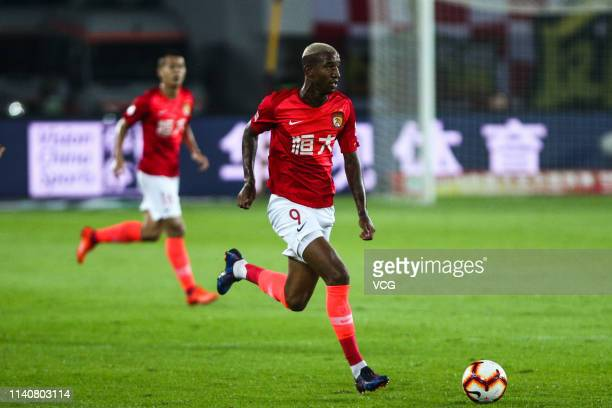 Talisca of Guangzhou Evergrande drives the ball during the fourth round match of 2019 Chinese Football Association Super League between Guangzhou...