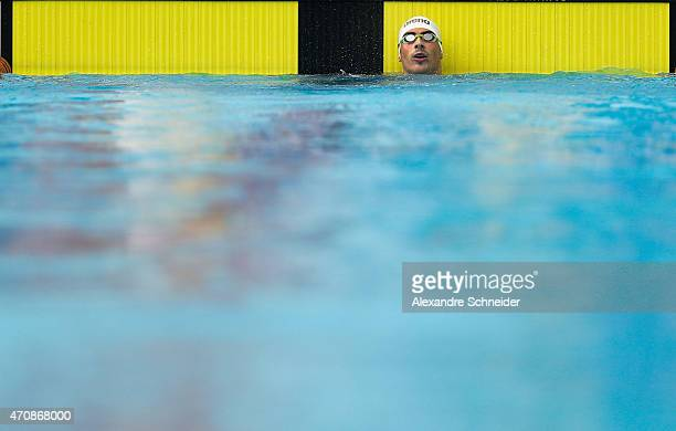 Talisson Henrique Glock of Brazil competes in the Men's 200 meters medley qualifying at Ibirapuera Sports Complex during day one of the Caixa...