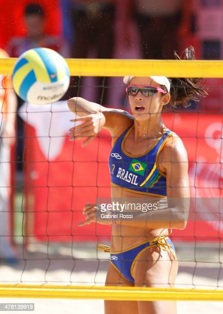 Talita Antunes Da Rocha of Brazil in action during a match between Brazil 1 and Colombia 2 as part of day six of the X South American Games Santiago...