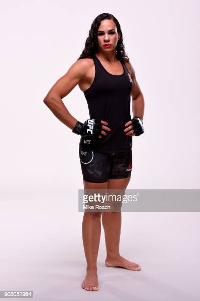Talita Bernardo of Brazil poses for a portrait during a UFC photo session on January 11 2018 in St Louis Missouri