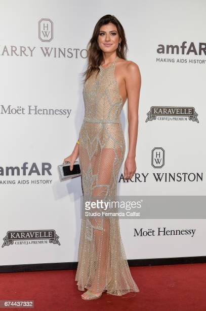 Talita Pires attends the 7th Annual amfAR Inspiration Gala on April 27 2017 in Sao Paulo Brazil Photo by Studio Fernanda Calfat/Getty Talita Pires