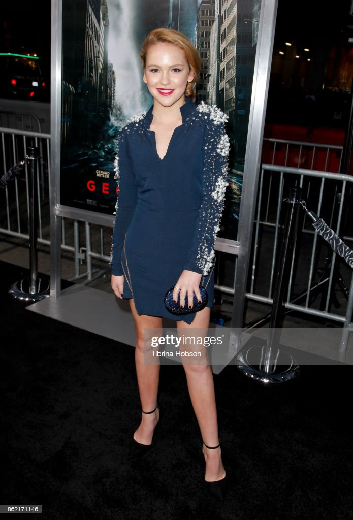 Talitha Bateman attends the premiere of Warner Bros. Pictures 'Geostorm' at TCL Chinese Theatre on October 16, 2017 in Hollywood, California.