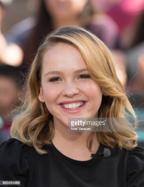Talitha Bateman visits 'Extra' at Universal Studios Hollywood on August 11 2017 in Universal City California