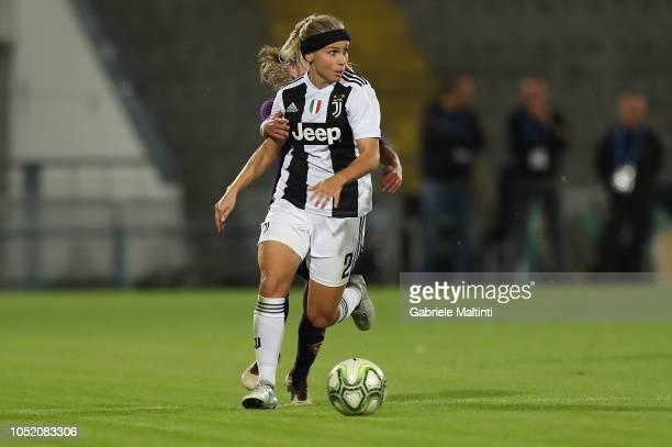 Talja Annika Hyyrynen of Juventus Women in action during the Italian Supercup match between Juventus Women and Fiorentina Women on October 13 2018 in...