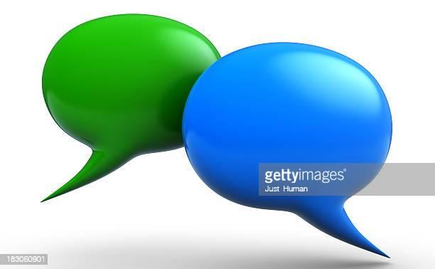 3D talk bubbles
