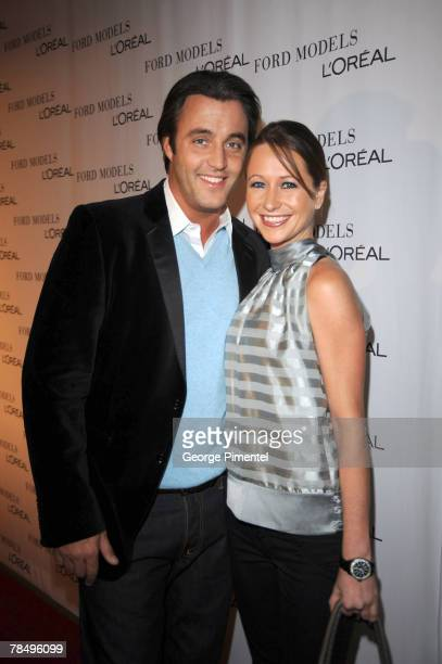 Talk host Ben Mulroney and Jessica Brownstein attend the Ford Models and L'Oreal Holiday Party at the L'Oreal Academy on December 13 2007 in Toronto...