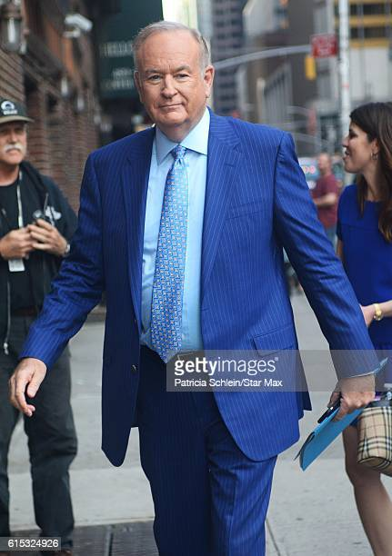 Talk Show Host Bill O'Reilly is seen on October 17 2016 in New York City