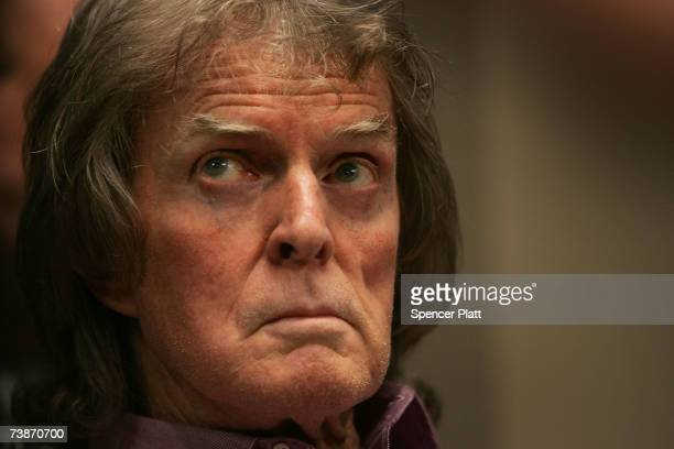 Talk show host Don Imus waits for the Rev Al Sharpton while speaking on Sharptons radio show about racially charged comments recently made by Imus...