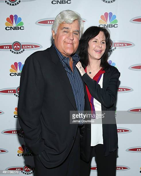 Talk show host Jay Leno and Mavis Leno attend Jay Leno's Garage Launch Party at Press Lounge at Ink48 on October 7 2015 in New York City