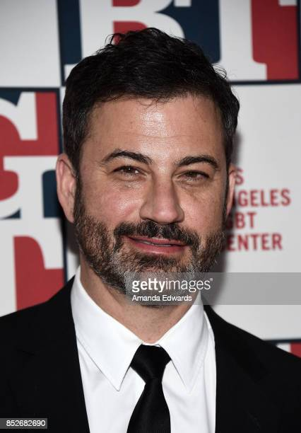 Talk show host Jimmy Kimmel arrives at the Los Angeles LGBT Center's 48th Anniversary Gala Vanguard Awards at The Beverly Hilton Hotel on September...