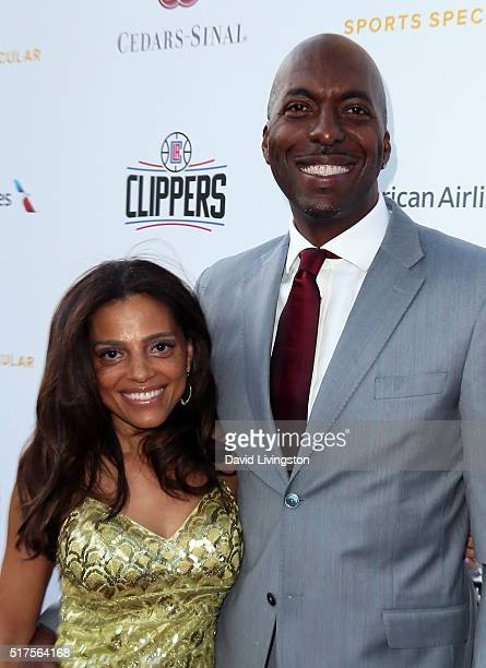Talk show host John Salley and wife Natasha Duffy attend the 31st Annual CedearsSinai Sports Spectacular Gala at W Los Angeles in West Beverly Hills...