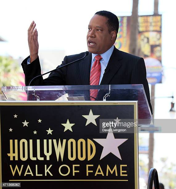 Talk show host Larry Elder attends his being honored with a Star on the Hollywood Walk of Fame on April 27 2015 in Hollywood California