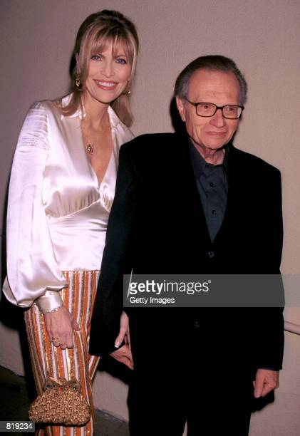 Talk show host Larry King and his wife Shawn attend the Spago closing party hosted by celebrity chef Wolfgang Puck and his wife Barbara Lazaroff...