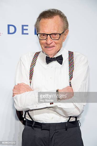 Talk show host Larry King attends Friars Club honors Martin Scorsese with Entertainment Icon Award at Cipriani Wall Street on September 21 2016 in...