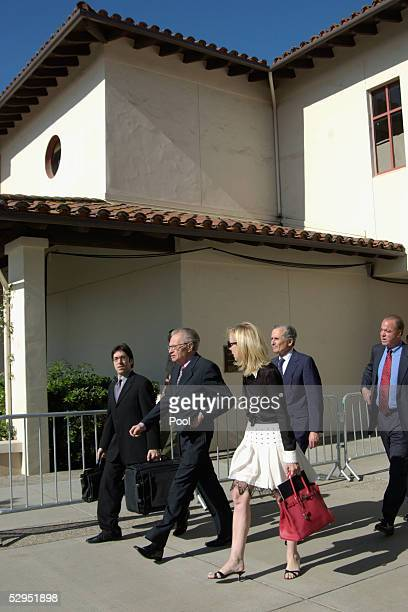 Talk show host Larry King leaves the Santa Barbara County Courthouse after the judge in Michael Jackson's child molestation trial ruled King would...