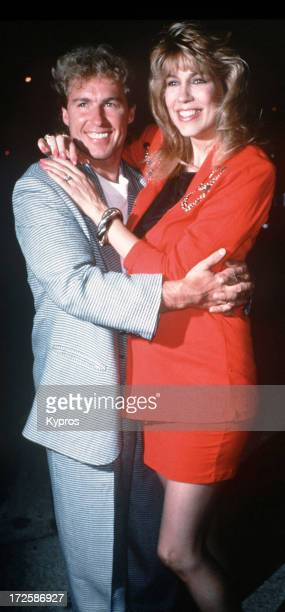 Talk show host Leeza Gibbons and her husband actor Christopher Quinten circa 1990