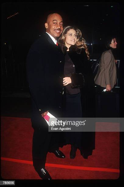 Talk show host Montel Williams and his wife attend the premiere of the film Jerry Maguire at Pier 88 December 6 1996 in New York City The film tells...