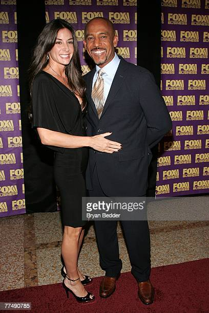 Talk show host Montel Williams and his wife Tara Fowler arrive at the Fox Business Network launch party at the Metropolitain Museum of Art on October...