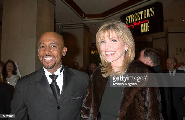 Talk show host Montel Williams and Larry King's wife Shawn Southwick pose at the All Star Celebrity Tribute honoring Rudy Giuliani to benefit the...