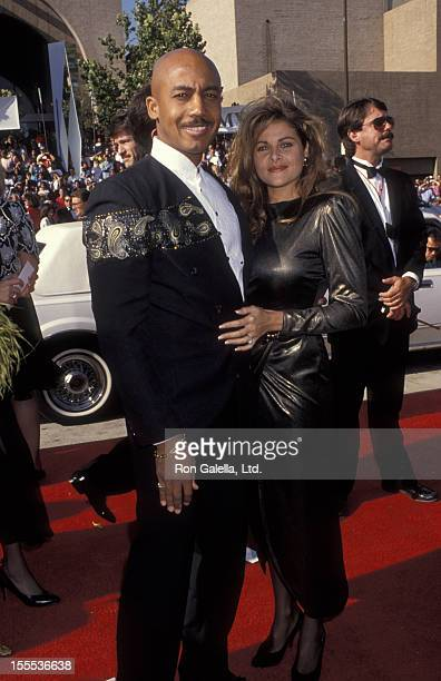 Talk Show Host Montel Williams and wife Grace Morley attending 44th Annual Primetime Emmy Awars on August 30 1992 at the Pasadena Civic Auditorium in...