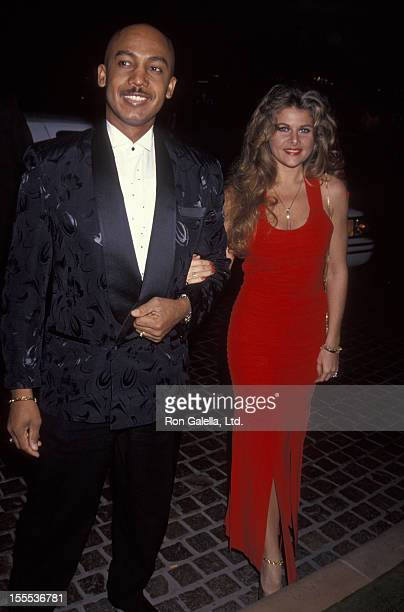Talk Show Host Montel Williams and wife Grace Morley attending Daily Variety Salutes Army Archerd on January 29 1993 at the Beverly Hilton Hotel in...