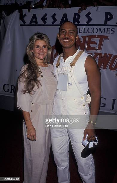 Talk Show Host Montel Williams and wife Grace Morley attending Grand Opening of Planet Hollywood on July 24 1994 at Caesar's Palace in Las Vegas...