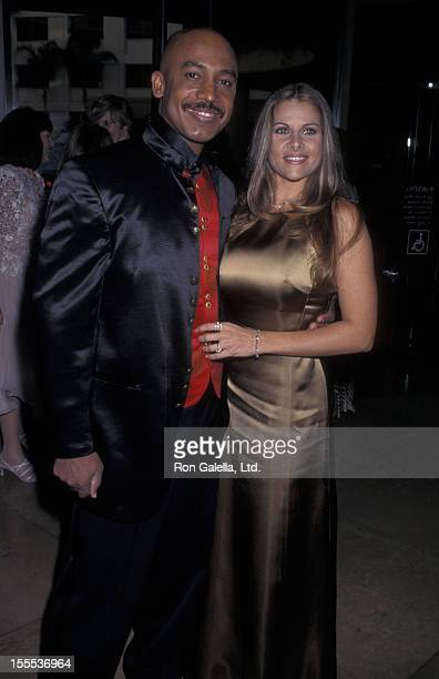 Talk Show Host Montel Williams and wife Grace Morley attending American Comedy Honors Gala on August 23 1997 at the Beverly Hilton Hotel in Beverly...