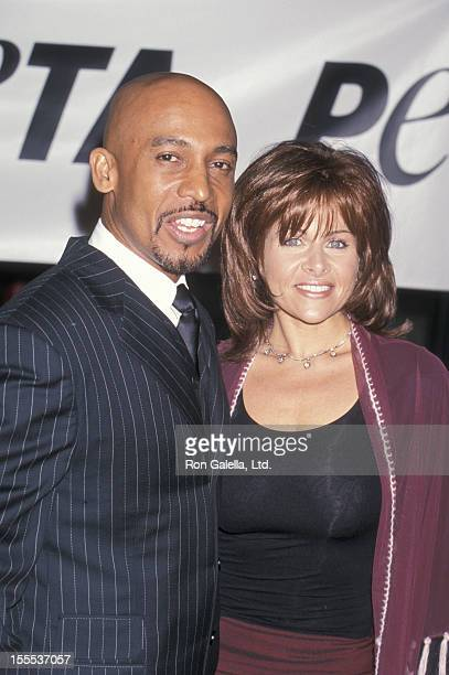 Talk Show Host Montel Williams and wife Grace Morley attending PETA Honors the Animal Rights Movement on September 18 1999 at Paramount Studios in...