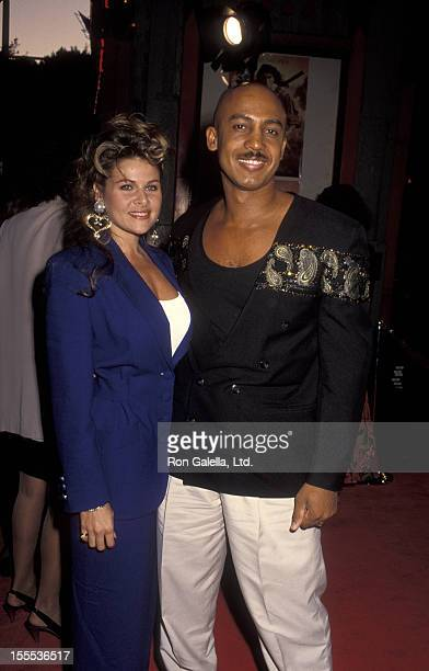 Talk Show Host Montel Williams and wife Grace Morley attending the screening of The Last Of The Mohicans on September 24 1992 at Mann Chinese Theater...