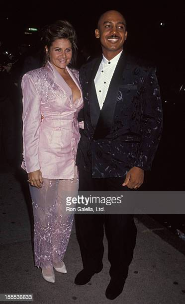 Talk Show Host Montel Williams and wife Grace Morley attending the premiere of Sarafina on September 14 1992 at the Guild Theater in New York City...