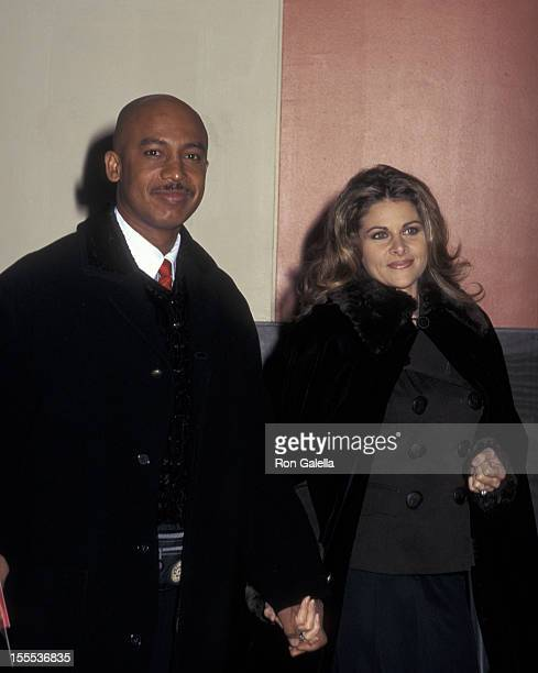 Talk Show Host Montel Williams and wife Grace Morley attending the premiere of Jerry McGuire on December 6 1996 at Pier 88 in New York City New York