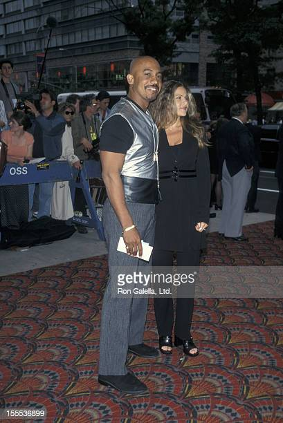 Talk Show Host Montel Williams and wife Grace Morley attending the world premiere of My Best Friend's Wedding on June 17 1997 at the Sony Lincoln...