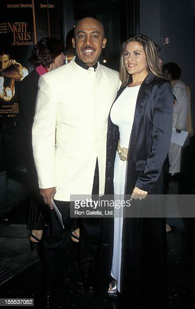 Talk Show Host Montel Williams and wife Grace Morley attending the premiere of Night Falls On Manhattan on May 12 1997 at Sony Lincoln Square Theater...