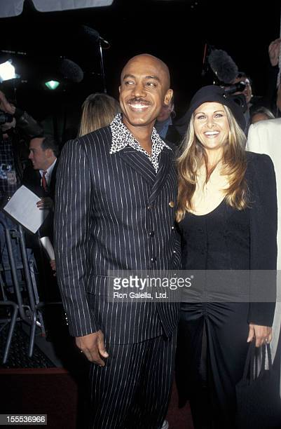 Talk Show Host Montel Williams and wife Grace Morley attending VH1 Fashion Awards on October 24 1997 at Madison Square Garden in New York City New...
