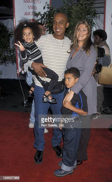 Talk Show Host Montel Williams wife Grace Morley son Montel Williams and daughter Wyntergrace Williams attending the premiere of Pocahontas IIJourney...