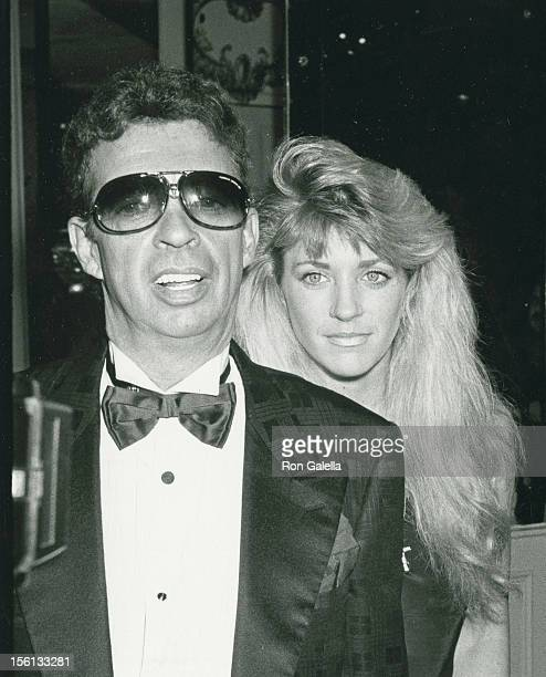 Talk Show Host Morton Downey Jr and wife Lori Krebs attend 17th Annual Police Athletic League Dinner on May 12 1989 at the Plaza Hotel in New York...