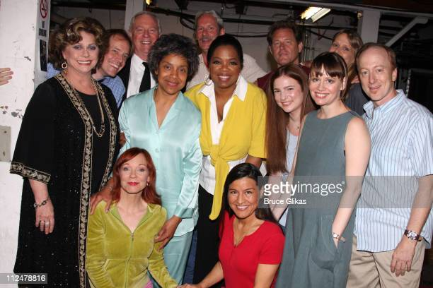 COVERAGE*** Talk show host Oprah Winfrey poses backstage with the cast of the Pulitzer Prizewinning play August Osage County including actresses...
