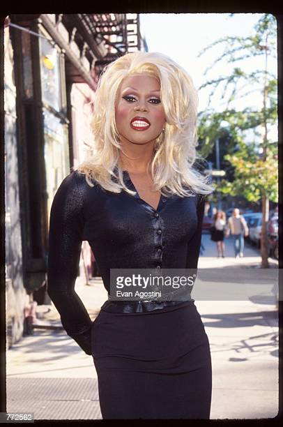 Talk show host Ru Paul stands at the Kids for Kids benefit carnival October 1 1995 in New York City The carnival which was funded by Harper's Bazaar...